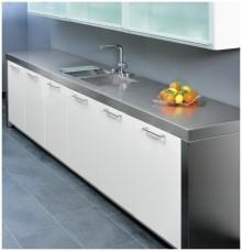 Küche mit edelstahl arbeitsplatte  Edelstahl-Arbeitsplatten ::.