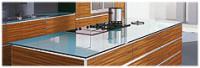 Glas arbeitsplatten for Glasplatte statt fliesenspiegel